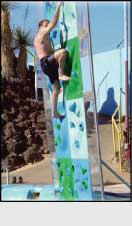 Climbing walls for swimming pools