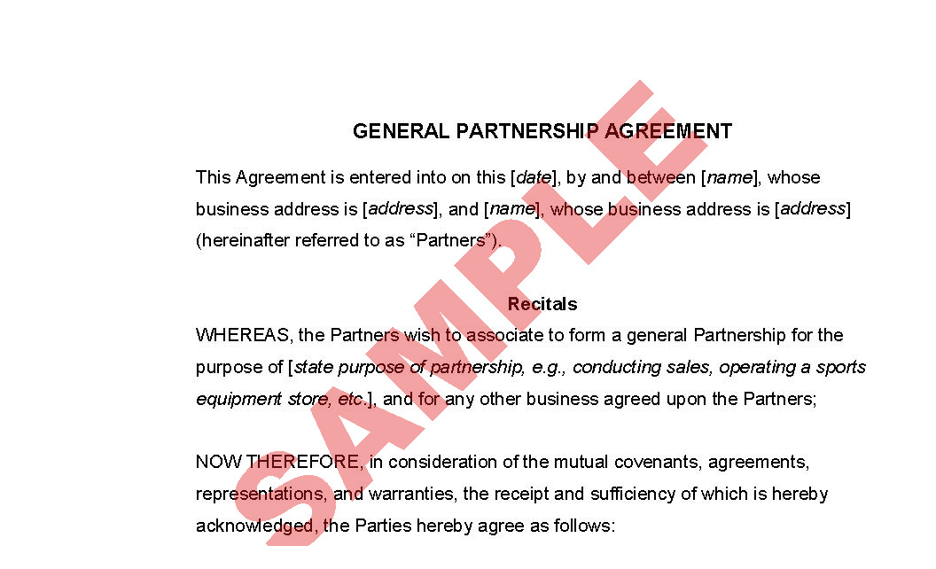 General partnership agreement business forms legal agreement general partnership agreement preview maxwellsz